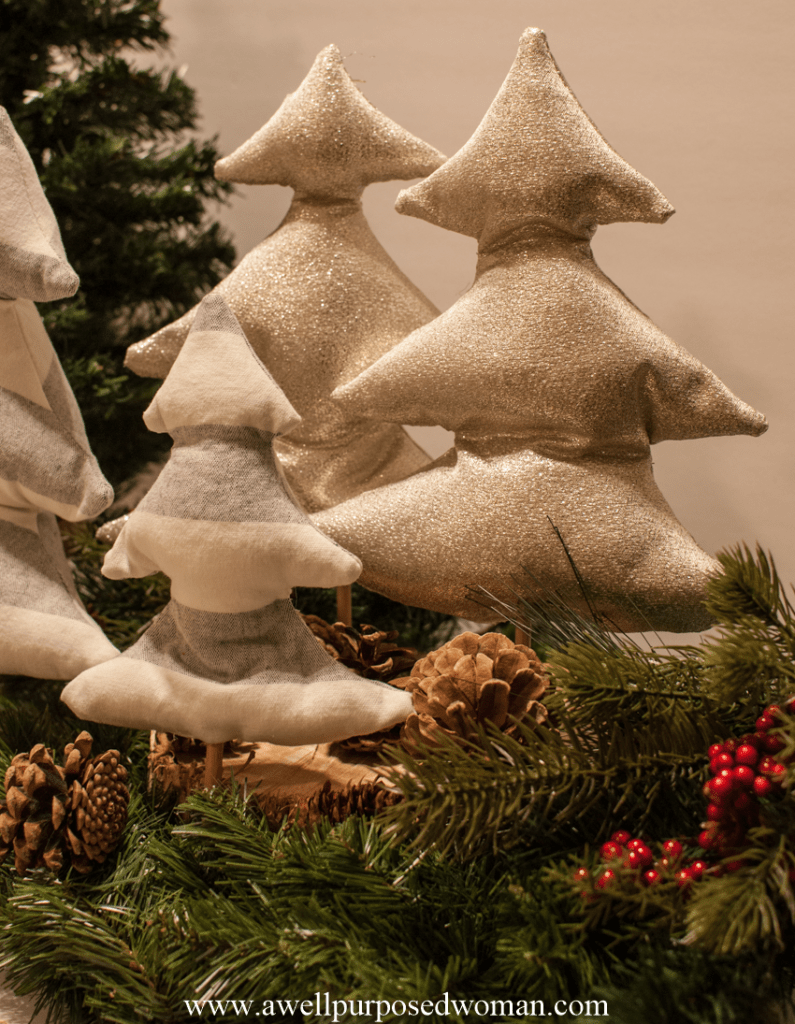 How To Make Diy Fabric Christmas Trees With Free Pattern A Well Purposed Woman