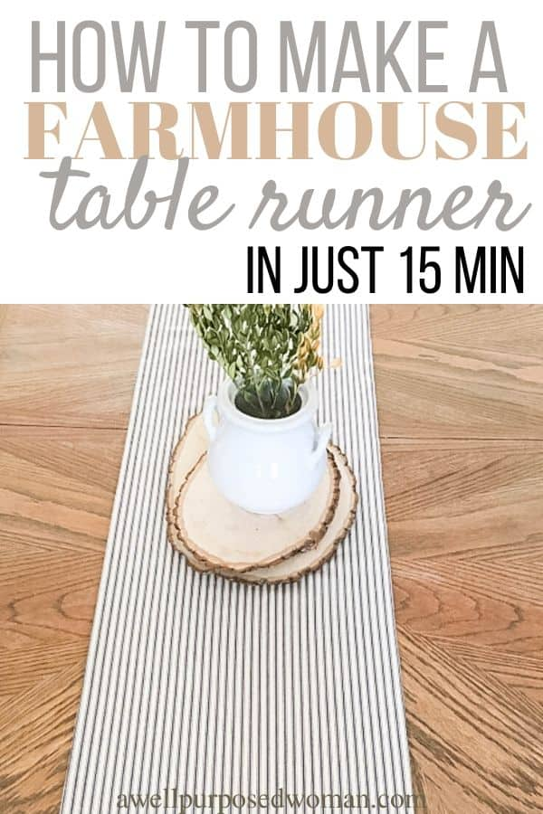 How To Make A Farmhouse Table Runner A Well Purposed Woman
