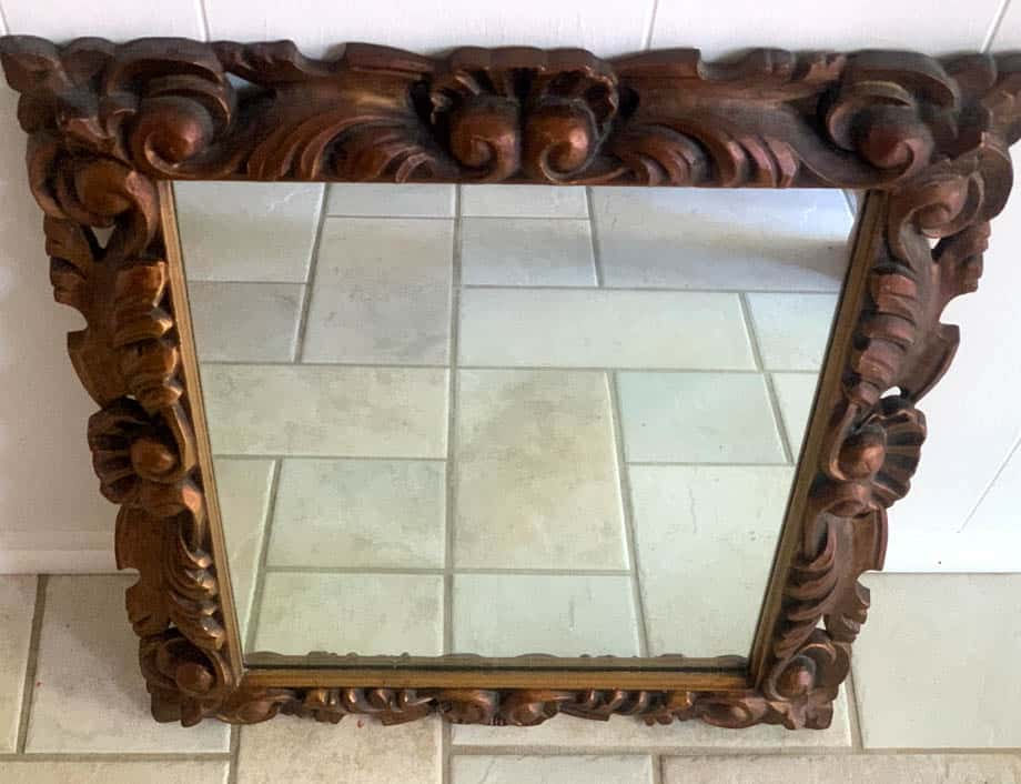 To Paint A Mirror Frame Antique White, Silver Paint For Plastic Mirror Frame