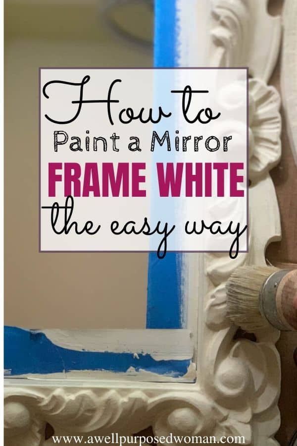 To Paint A Mirror Frame Antique White, How To Paint A Gold Framed Mirror